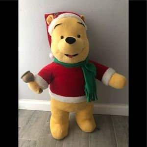 Pooh porch sitter Christmas